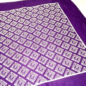 Best Buddies Haring Logo Bandana (Purple)