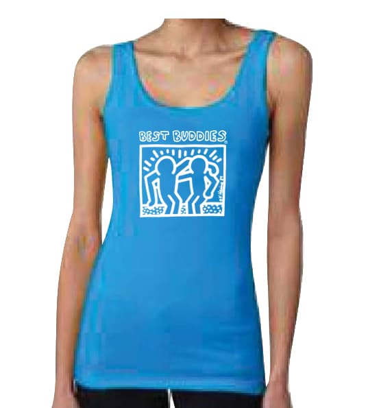 White Haring Ladies Tank Top (Turquoise)
