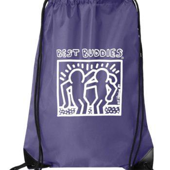 White Haring Drawstring Backpack (Purple)