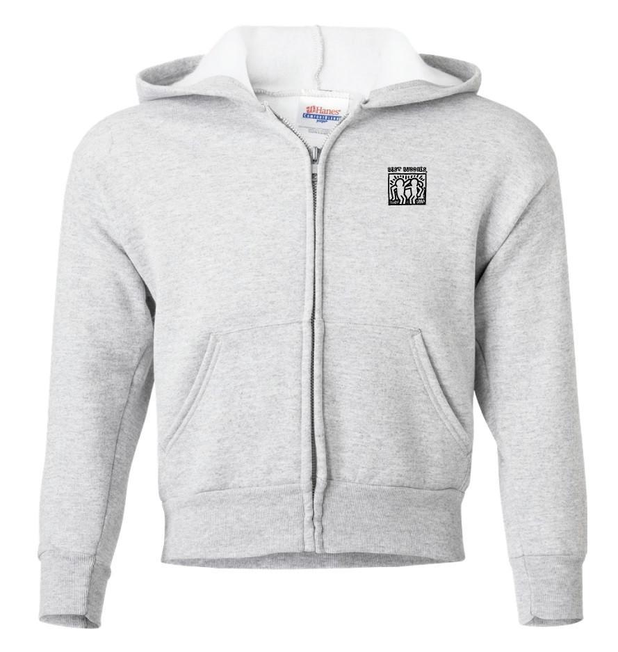 YOUTH -  Haring Full Zip Hooded Sweatshirt (Ash)