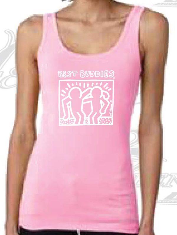 White Haring Ladies Tank Top (Neon Pink)