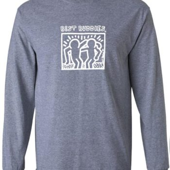 YOUTH -  Long Sleeve White Haring Logo Tee (Sport Grey)