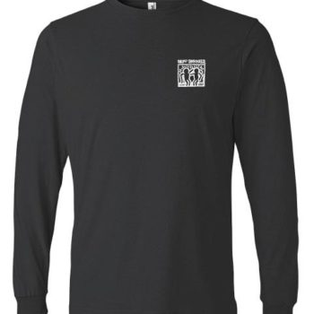 Long Sleeve White Haring Logo Tee (Black)