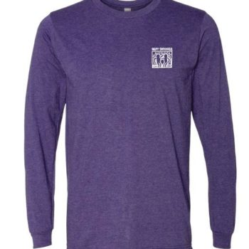Long Sleeve White Haring Logo Tee (Heather Purple)