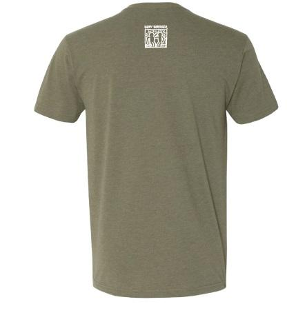 BestBuddies Typeset V-Neck (Military Green)