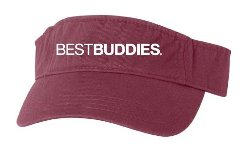 Best Buddies Visor (Maroon)