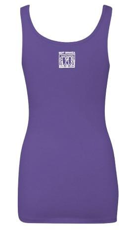 BestBuddies Typeset Women's Tank Top (Purple Rush)