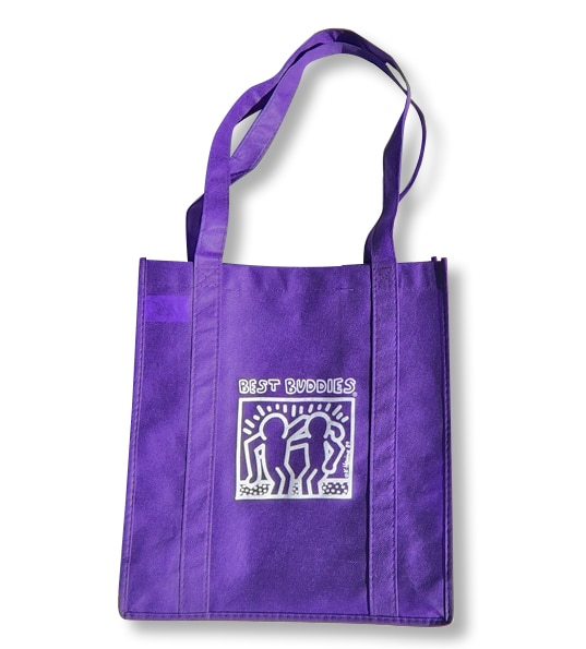 BB White Haring Reusable Grocery Tote (Purple)