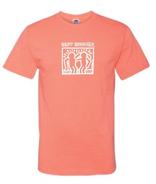 White Haring Tee (Retro Coral)