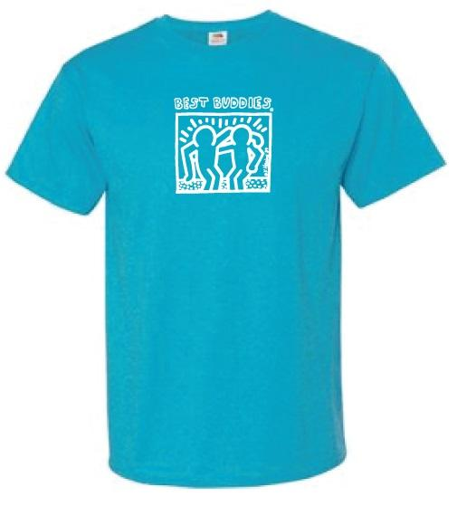 White Haring Tee (Turquoise Heather)