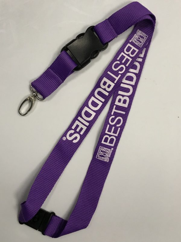 Best Buddies Haring Lanyard (Purple)